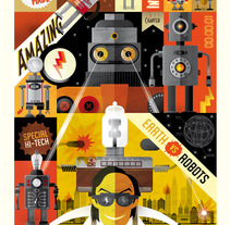Pitarque Robots. A Design&Illustration project by Rebombo estudio  - 05-08-2013
