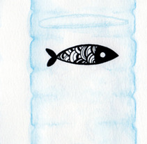 Fishes and bottles. A Design&Illustration project by Alejandra Morenilla - 29-08-2013