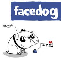 Facedog. Un proyecto de Ilustración de Alejandro de Marcos García         - 10.09.2013