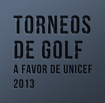 Carteles torneos de golf 2013. A Design, and Advertising project by Iban Vaquero         - 15.10.2013