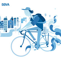 BBVA / Blue Joven. A Design&Illustration project by Rebombo estudio  - 16-10-2013