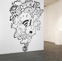 Wall painting. Un proyecto de Ilustración e Instalaciones de Isaac González         - 26.11.2013