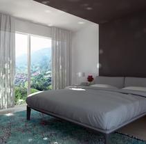 bedroom render. Un proyecto de Diseño, 3D y Diseño de interiores de Maite Abarizketa Larrañaga - Lunes, 06 de enero de 2014 00:00:00 +0100