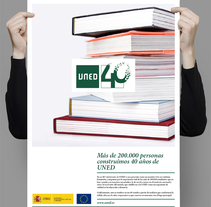 UNED, logo 40 Aniversario, propuesta. A Design, and Advertising project by Señor Rosauro         - 16.06.2012