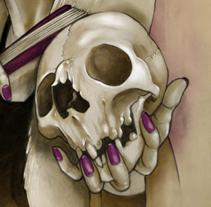 Ladies Skull. A Illustration project by Oscar Tello Martín         - 22.12.2013