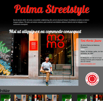 Palma Streetstyle. A UI / UX, Web Design, and Web Development project by Carolina Rodríguez - 18-06-2013