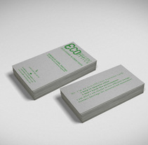 Eco-efficient Design - Business Card. A Graphic Design project by Alonso Urbanos - 22-02-2015