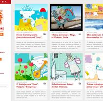 Web corporativa CAPACERO, estudio de diseño e ilustración.. Un proyecto de Arquitectura de la información, Diseño de la información, Marketing y Desarrollo Web de Chelo Fernández Díaz - Lunes, 23 de diciembre de 2013 00:00:00 +0100