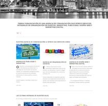 Web corporativa de Tibeka Comunicación. Um projeto de Design, Publicidade, Consultoria criativa, Eventos, Design interativo, Marketing, Web design e Desenvolvimento Web de Tibeka Comunicación         - 09.03.2014