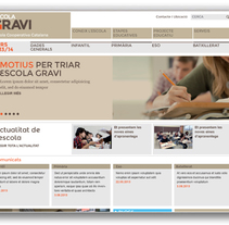 Escola Gravi. A Br, ing, Identit, Graphic Design, and Web Design project by Horaci Polanco Noe         - 07.01.2014