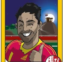 """Caricaturas: """"cromos de futbol"""". Un proyecto de Ilustración de Sergio Rodríguez Rodríguez         - 26.03.2014"""