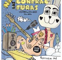 Cartel: Concierto las contracturas. Un proyecto de Ilustración de Antonio illescas         - 03.04.2014
