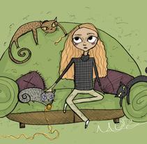 CATS. A Illustration project by Marta Zabala         - 01.02.2014