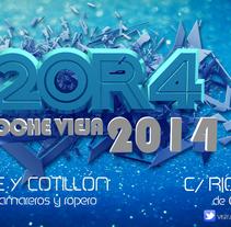 Diseño Flyer Noche Vieja 2014. A Design, and Graphic Design project by Sofía  Ordóñez         - 18.12.2013