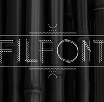 Filfont (tipografia modular). Un proyecto de Tipografía de Albert Ballesté - 19-04-2014