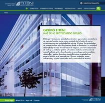 Fiteni - Grupo Inmobiliario. A Web Development project by Juan Seguro Zarallo         - 19.03.2014