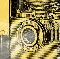 Cartel 12ª Muestra de Cine y Trabajo 2014. Um projeto de Design gráfico de @infocalber          - 27.04.2014