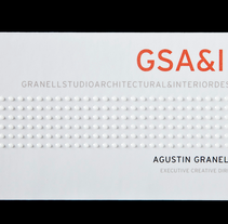 Tarjetas de visita para GSA&ID. Acabado barniz braille.. A Design, Br, ing, Identit, and Graphic Design project by Omán Impresores  - 28-04-2014