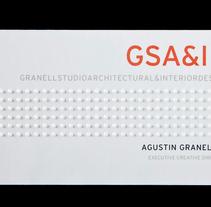Tarjetas de visita para GSA&ID. Acabado barniz braille.. Un proyecto de Br, ing e Identidad, Diseño y Diseño gráfico de Omán Impresores  - Martes, 29 de abril de 2014 00:00:00 +0200