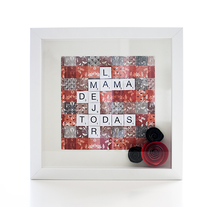 Cuadros Scrabble. A Crafts, Fine Art, and Graphic Design project by Alexandra Fernández Tello         - 03.05.2014