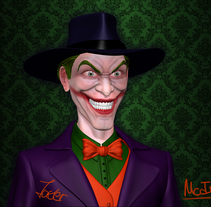 Joker (Maya & ZBrush). A 3D, Character Design, and Fine Art project by Fran  Martínez Carrillo         - 05.05.2014