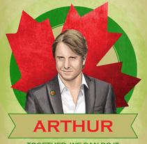 Cartel promoción elecciones Canadá. A Illustration, and Graphic Design project by Elisa de la Torre         - 12.05.2014