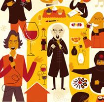 Catas con arte. Un proyecto de Diseño, Diseño de personajes e Ilustración de Raúl Gómez estudio - Miércoles, 14 de mayo de 2014 00:00:00 +0200