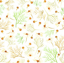 Chamomile Tea - Mi Proyecto del curso Motivos para repetir . Um projeto de Design de Mariana Piñar Castellano - 14-05-2014