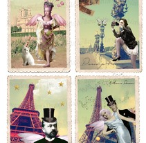 Le Parisien Postcards. A Design, Photograph, and Graphic Design project by Elena Font Vázquez         - 22.05.2014