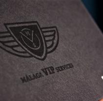Málaga VIP Services. Diseño de Marca.. Um projeto de Br, ing e Identidade, Design editorial e Design gráfico de Plan D Creativos         - 23.04.2013