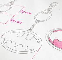 Llaveros DC Comics . A Art Direction, and Product Design project by Olivier Fritsch - Feb 26 2013 12:00 AM