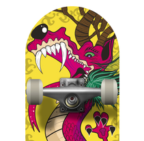 Skateboard • The Brave Dragon @matdisseny. A Design, Illustration, Art Direction, and Product Design project by Matdisseny (marc argelich trigo) - 11-06-2014