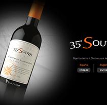 35ºSouth - Viña San Pedro. Un proyecto de Animación, Desarrollo Web y Diseño Web de Andrea Pérez Dalannays - Jueves, 19 de junio de 2014 00:00:00 +0200
