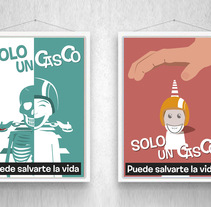 Sólo un Casco puede salvarte la vida. A Illustration, Art Direction, and Graphic Design project by Nieves Gonzalez - 04-06-2014