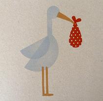 Stork stamp. Un proyecto de Ilustración y Artesanía de Heroine Studio - 25-06-2014