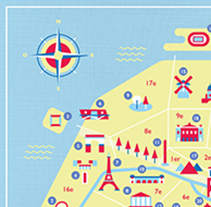 Map of Paris. A Illustration project by Noémie Durand - 01-07-2014