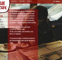 Cup Of Dreams- Campaña para Nescafé (El Sol Bilbao 2014). Um projeto de Publicidade, Br, ing e Identidade, Design gráfico, Multimídia e Web design de Leticia Gómez Aguado         - 01.07.2014