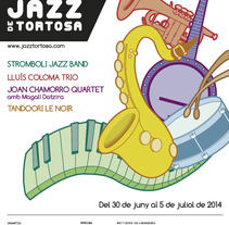 XXI Mostra de Jazz de Tortosa. A Design, Illustration, and Graphic Design project by Joan Carles Claveria - 02-05-2014