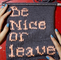Be Nice or Leave . A Crafts project by Alícia Roselló Gené - 14-07-2010
