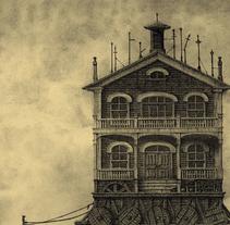 """""""Guía de Hoteles Inventados"""" Álbum ilustrado. A Illustration project by Óscar  Sanmartín Vargas - 17-07-2014"""