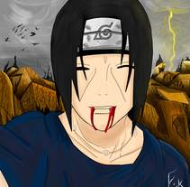 Itachi Smile. A Illustration project by Erick Miguel Martínez Ortega         - 19.07.2014