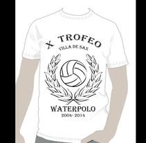 Camiseta para el Club Waterpolo Sax  2014 (X Aniversario). A Graphic Design project by María Jose Calet Pérez         - 10.08.2014