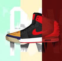 Sneaker Coolture (Weekly Project - 025/053). A Illustration, Art Direction, and Graphic Design project by Noem9 Studio         - 22.07.2014