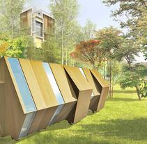 Píldoras habitables. COhousing & COworking. Um projeto de Instalações, 3D, Arquitetura e Design de produtos de ángeles benítez aranda         - 07.08.2014