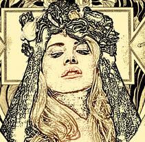 """Lana del Rey """"Cruel World"""" Poster. Un proyecto de Diseño, Ilustración y Diseño gráfico de Marta Arévalo Segarra         - 14.08.2014"""