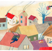 Les fenêtres magiques (Children's illustration). A Illustration project by Paloma Corral         - 18.08.2014