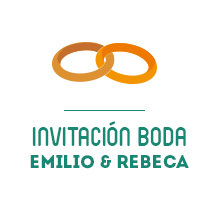 Invitación Boda Emilio&Rebeca. Un proyecto de Diseño, Ilustración y Diseño gráfico de Eva  G. Navarro - 20-08-2014