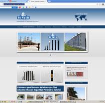 Sitio web de Bunker Seguridad Electrónica. Um projeto de Web design de Rafael J. Mora Aguilar         - 20.08.2014