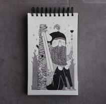 """AMOR GUERRERO"".. A Illustration project by Álvaro Parra Romo         - 04.09.2014"