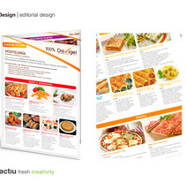 Davigel, diseño de carta. A Design, Editorial Design, and Graphic Design project by Mediactiu agencia de branding y comunicación de Barcelona  - Sep 09 2014 12:00 AM